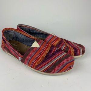 Geometric Tribal Toms Slip ons